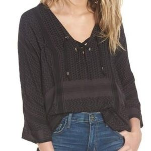 Rails Oynx Black Lily Pullover Blouse